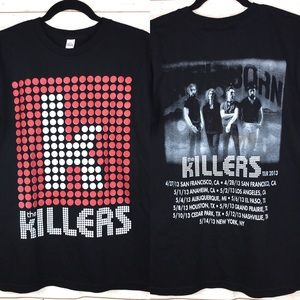 The Killers Graphic Band Tour 2013 Tee Shirt Sz S